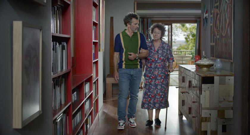 "Antonio Banderas as Salvador, Julieta Serrano as Jacinta in a scene from ""Pain and Glory."""
