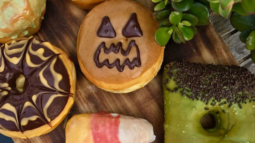 Devil's Dozen is offering Halloween doughnuts through the end of October.