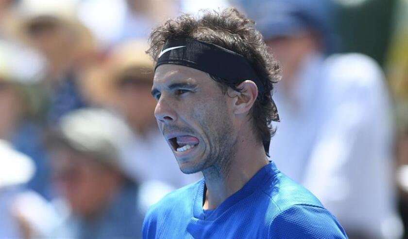 Rafael Nadal de España reacciona en el juego ante Richard Gasquet de Francia. EFE/Archivo