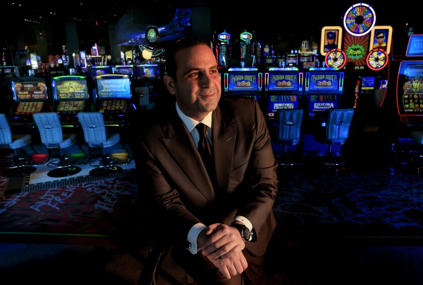 Los Angeles nightclub mogul Sam Nazarian has relinquish control of operations at SLS Hotel Casino, which he opened in August.