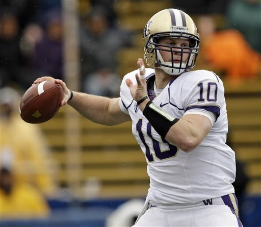 Washington quarterback Jake Locker suffered a rib injury in the sixth game of the season and has only missed one game because of it.