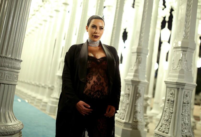 Kim Kardashian attends the Los Angeles County Museum of Art's Art+Film Gala in November.