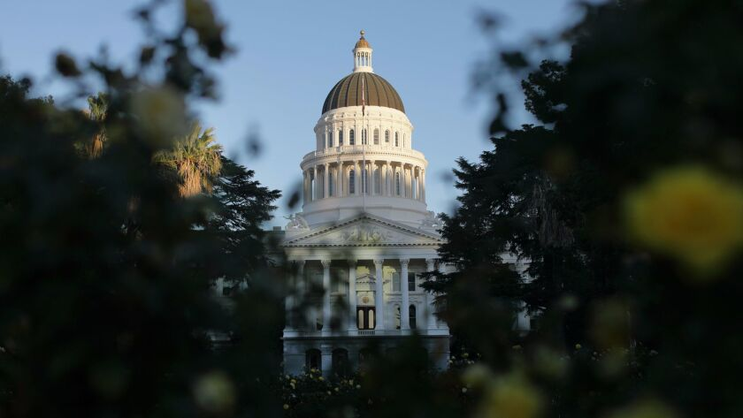 The Capitol building in Sacramento. California is among 13 states that send more tax money to Washington than they get back in federal spending, according to a think tank.