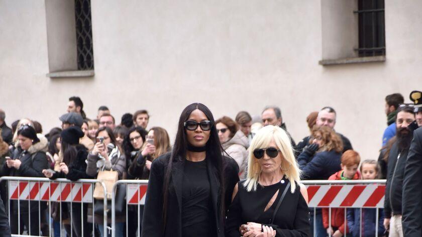 Naomi Campbell and Donatella Versace.