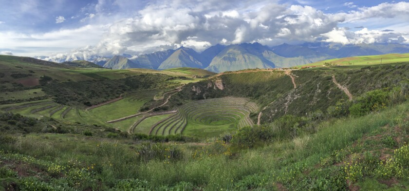 The restaurant Mil is located 11,000 feet above sea level in the Andes in Peru. It's perched next to Moray, a lesser-known Incan ruin thought to have been built as a food laboratory.