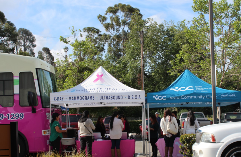 Vista Community Clinic hosts community outreach events as part of its Breast Health Program.
