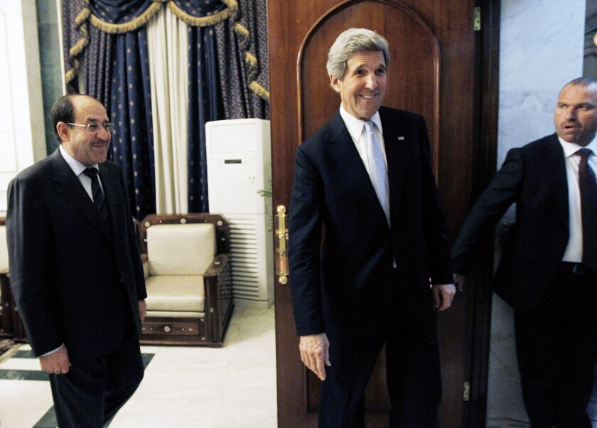 Maliki resists Kerry's call to halt flow of Iranian arms to Syria