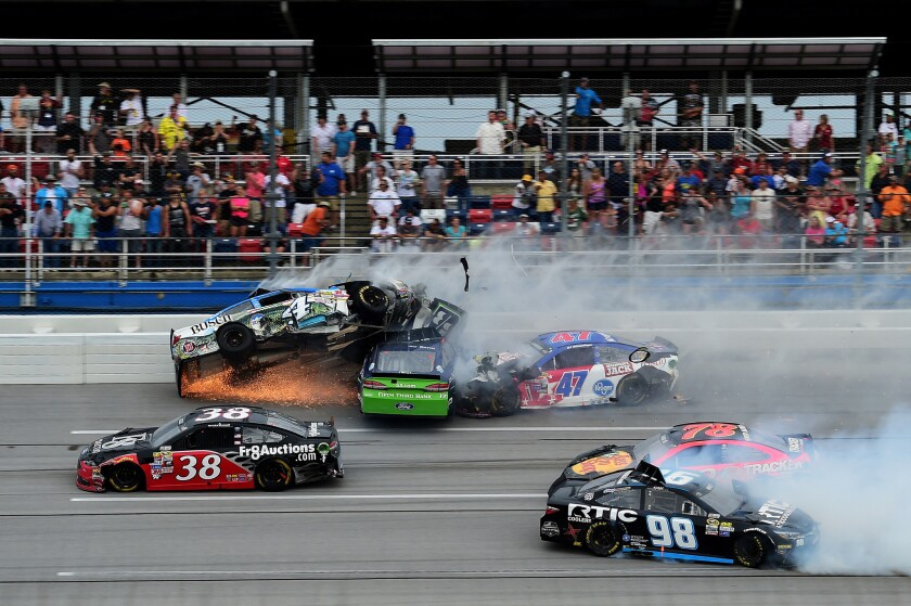 NASCAR's restrictor-plate tracks cause drivers and fans to play a dangerous game
