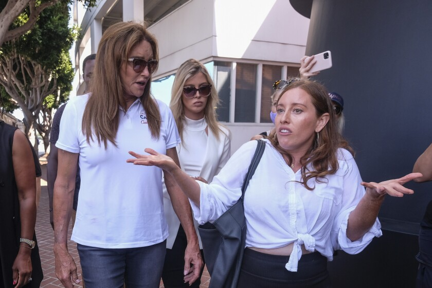 Caitlyn Jenner tours the streets in the Venice Thursday.