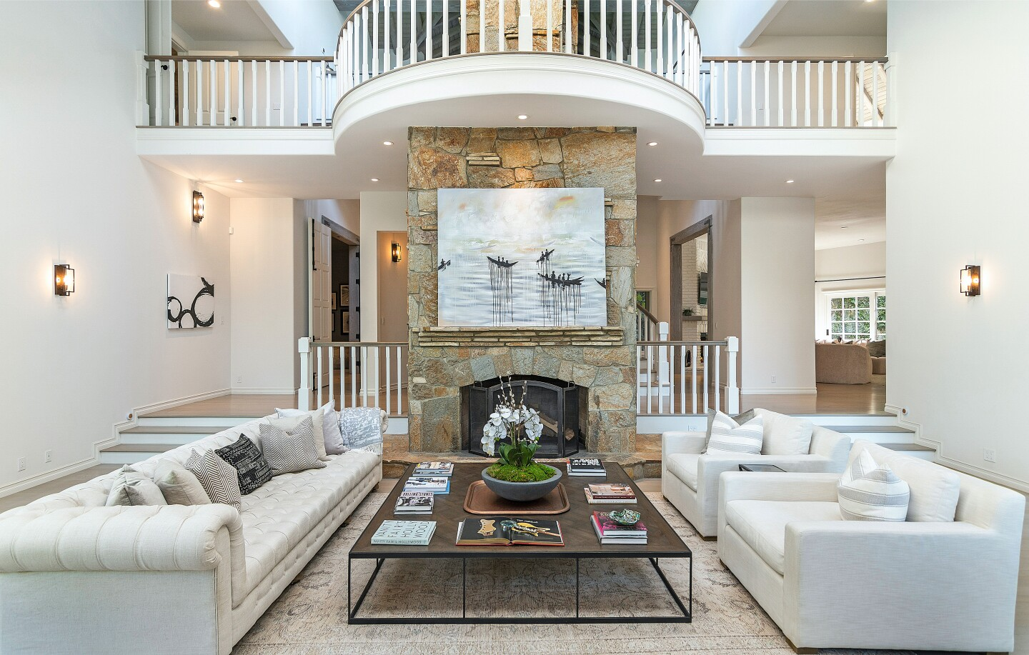 Across three stories, the scenic home holds six bedrooms and 10 bathrooms in 11,500 square feet.