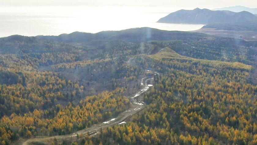 Pacific island of Sakhalin