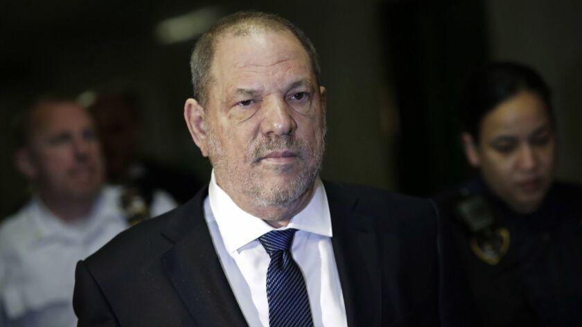 Harvey Weinstein appears in a Manhattan courtroom in 2018