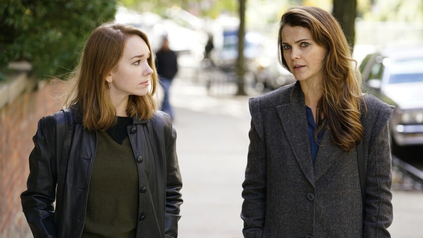 "Holly Taylor as Paige Jennings and Keri Russell as Elizabeth Jennings in ""The Americans."""