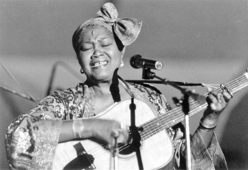 "Odetta, who used just her given name professionally, had trained as a classical vocalist as a child and later discovered folk music, which she said ""really touched where I live."" She became an inspiration to other folk singers and eventually received a National Medal of Arts and a Living Legend Award."