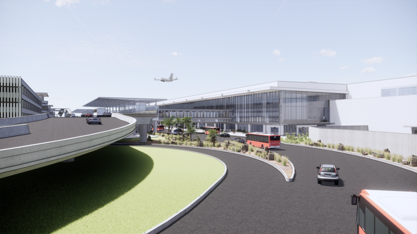 Rendering of planned replacement of Terminal 1 at San Diego International Airport.