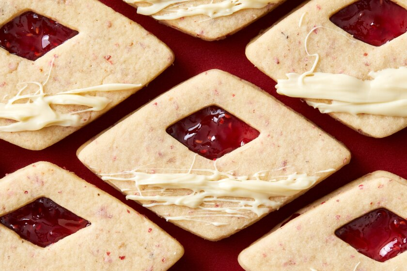 12 Days of Holiday Cookies: Pink Pepper and Raspberry Jam Linzers