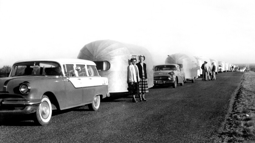 Airstream trailers in 1956