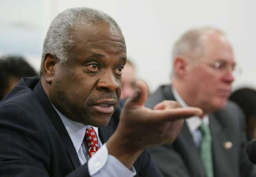 Justice Clarence Thomas believes states aren't covered by a ban on the 'establishment' of religion