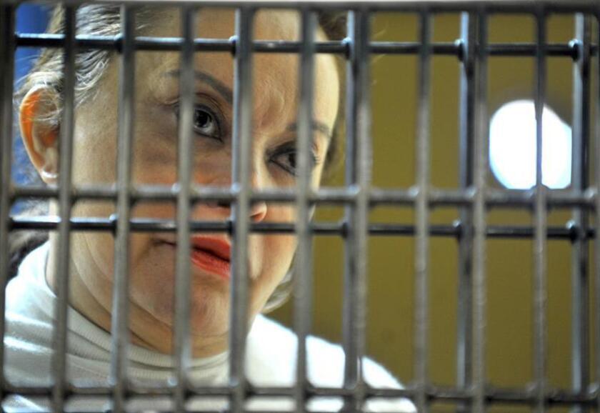 La exlíder sindical mexicana Elba Esther Gordillo, procesada por corrupción, saldrá de prisión en las próximas horas para cumplir prisión domiciliaria, afirmaron hoy medios locales. EFE/ARCHIVO