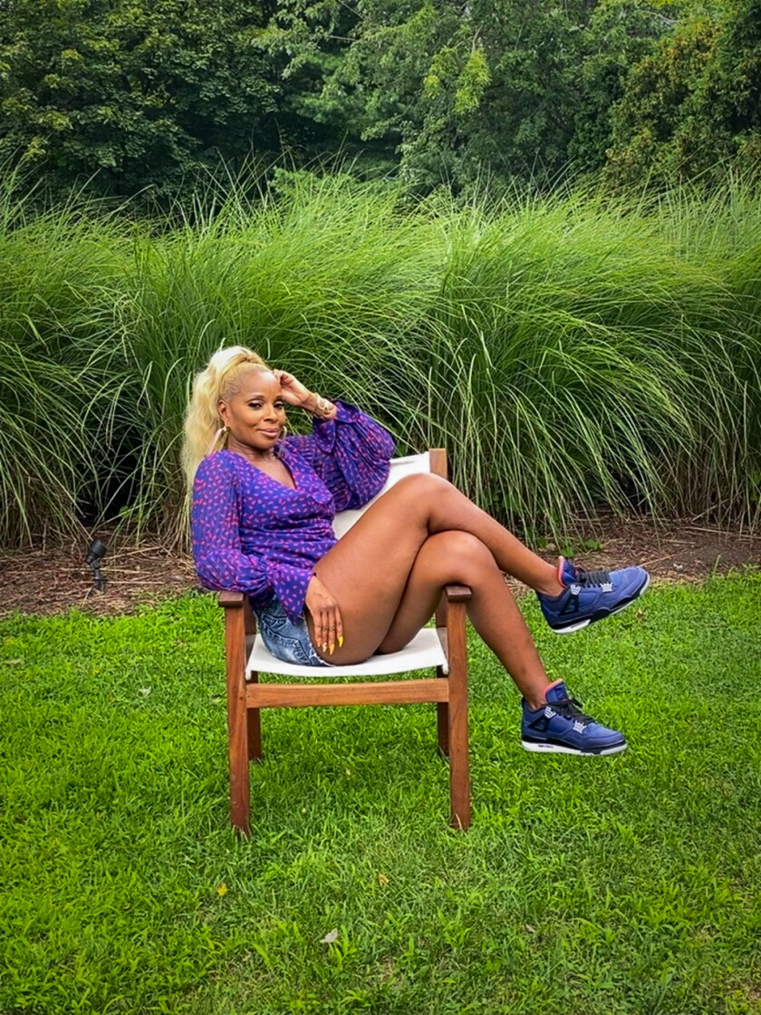 Actress and recording artist Mary J. Blige at her home.