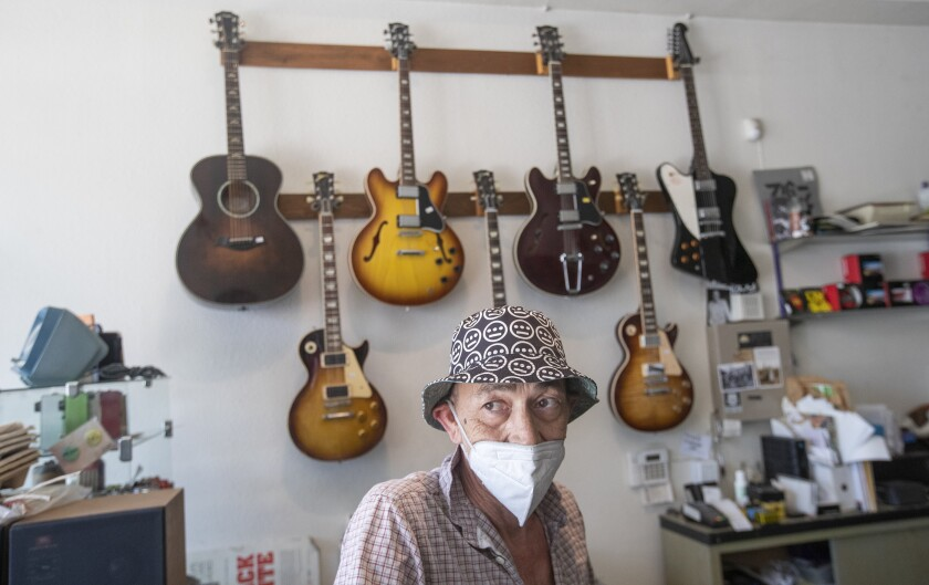 Jack Waterson, 61, owner of Future Music on York Blvd. in Highland Park