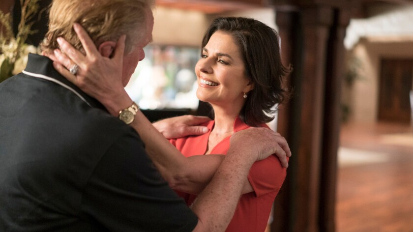 "Sela Ward plays a former first lady dealing with a troublesome ex-president in the Epix comedy ""Graves."""