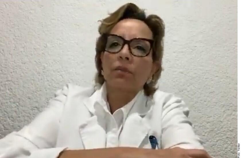 La delegada del IMSS en Baja California, Desirée Sagarnaga Durante