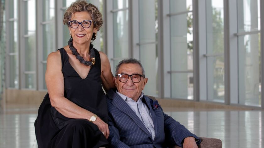 Arts patrons Soraya and Younes Nazarian.