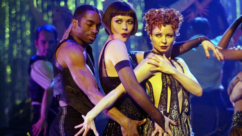 "Catherine Zeta-Jones, center, in the film ""Chicago."""