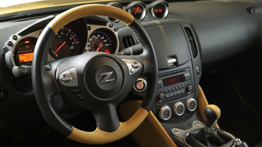 LOS ANGELES, CALIF. -- MARCH 19, 2018: The 2018 Nissan 370Z Coupe Heritage Edition, with a base pri