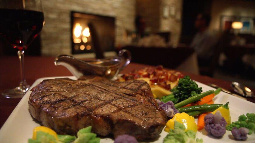 Porterhouse steak at Barona Oaks Steakhouse.