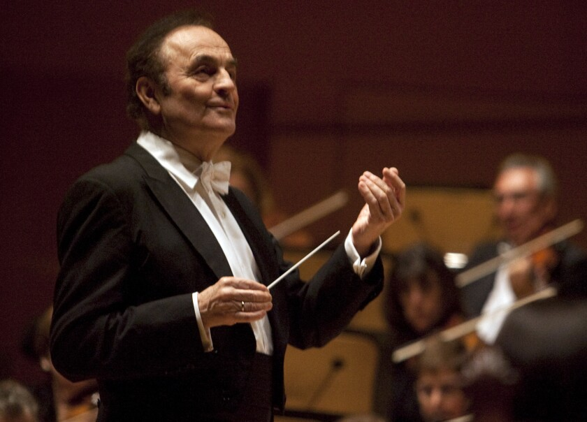 Charles Dutoit, photographed in 2010 at Walt Disney Concert Hall