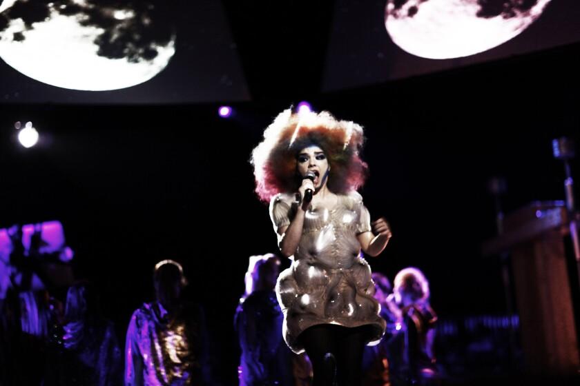 "A scene from ""Björk: Biophilia Live"""
