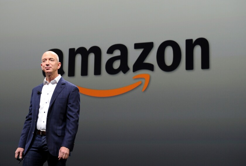 Amazon is reportedly readying a television set-top box that could go on sale in March. Above, Amazon CEO Jeff Bezos in 2012.