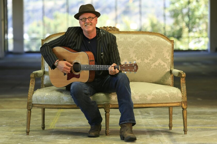 June 4th, 2014 San Diego CA- Local singer / songwriter Peter Bolland is also a philosphy and humanities professor at Southwestern College. Photo by David Brooks/ U-T San Diego MANDATORY PHOTO CREDIT DAVID BROOKS / U-T SAN DIEGO; ZUMA Press.