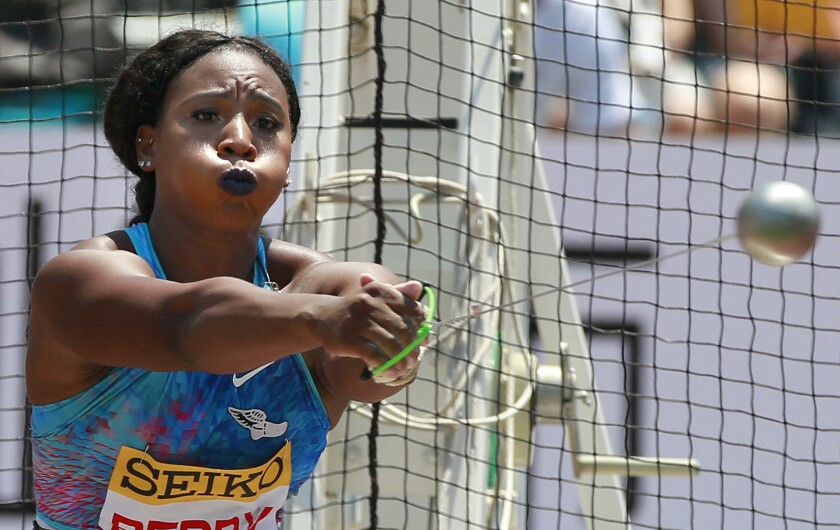 Hammer thrower Gwen Berry is seeking an apology after being put on probation for raising a fist on the medal stand last year.