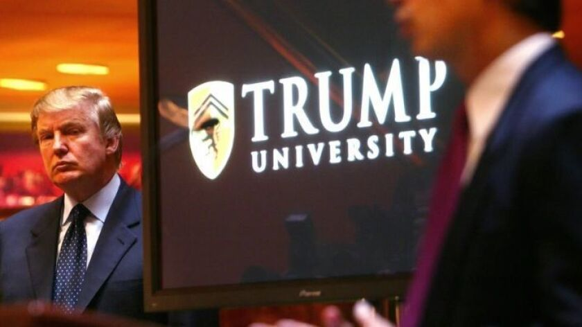 Settlement talks are possible in the Trump University lawsuit.