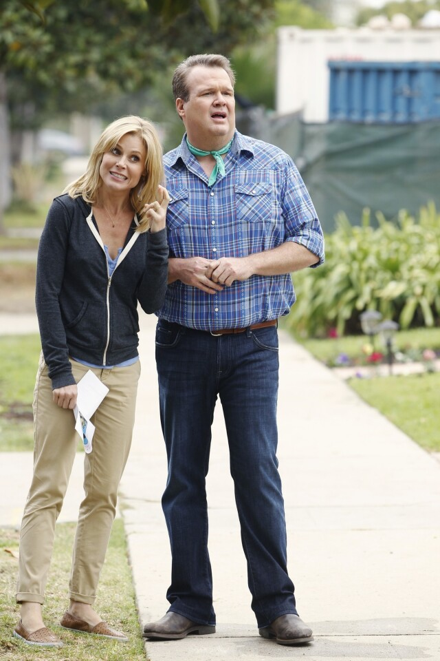 "Eric Stonestreet last year won his second Emmy award for supporting actor in a comedy series for ""Modern Family."" There's no chance of a three-peat, however; Stonestreet was shut out of the nominations. Julie Bowen, though, did get a nomination for best supporting actress."