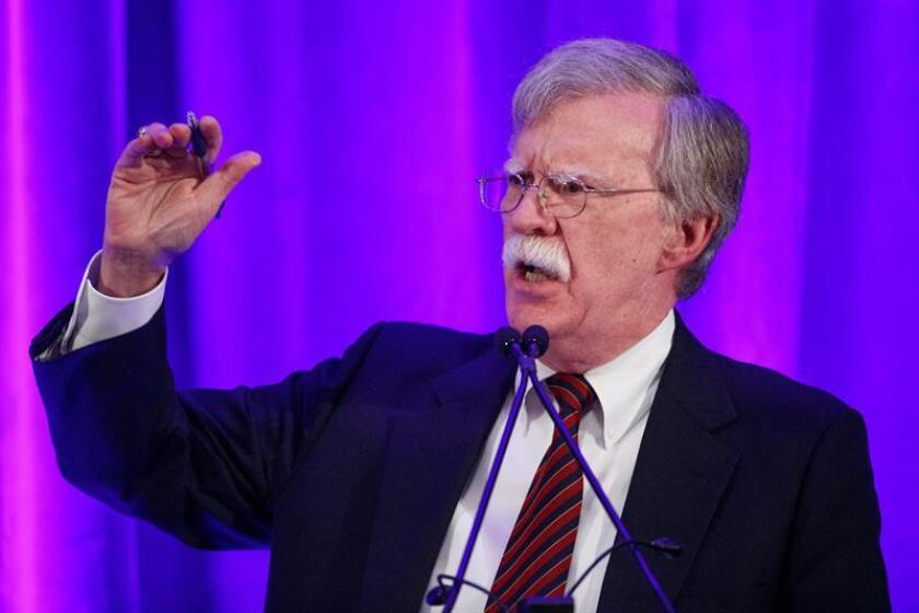 National Security Advisor John Bolton delivers remarks at a Federalist Society luncheon in Washington, DC, USA, 10 September 2018. EFE/EPA/FILE
