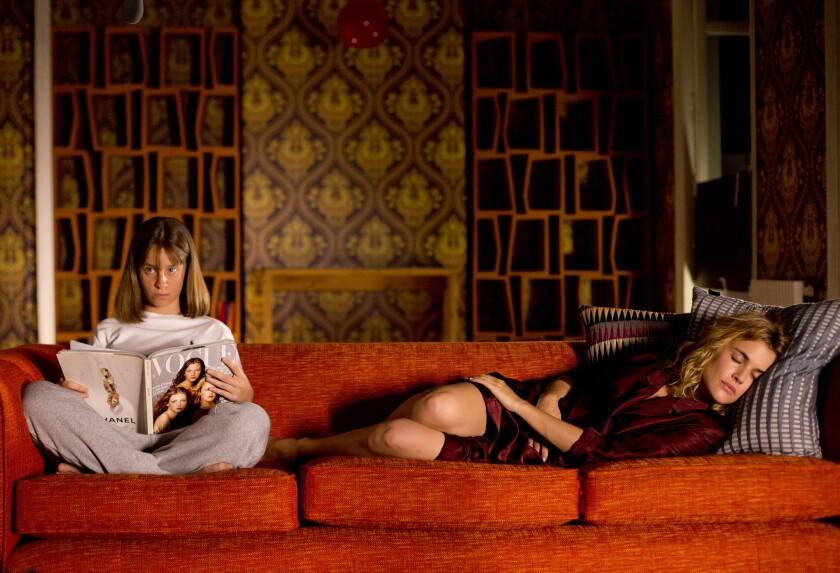 "Sara Jimenez, left, as Teenage Beatriz and Adriana Ugarte as Earlier Julieta in ""Julieta."""