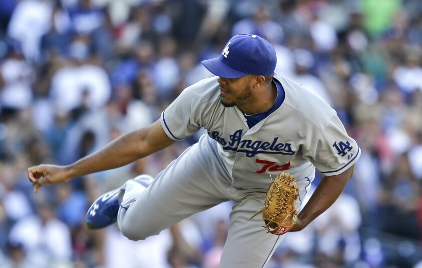 Dodgers closer Kenley Jansen is a natural when it comes to doing things left-handed -- except pitching.