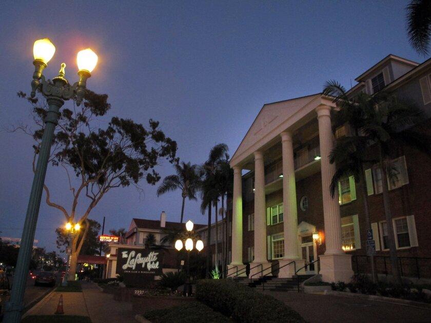 San Diego CA--October 1, 2012----Lafayette Hotel, a botique hotel. Photo by Gerald McClard/U-T San Diego.