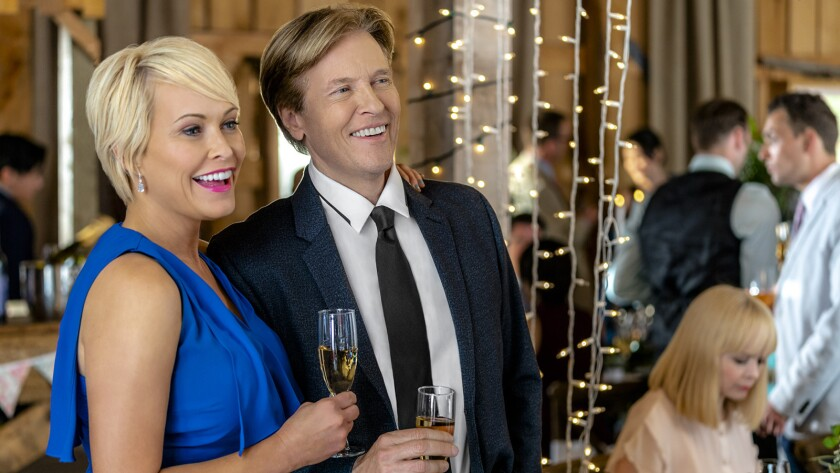 """Josie Bissett and Jack Wagner in """"Wedding March 4 Something Old, Something New"""" on Hallmark."""