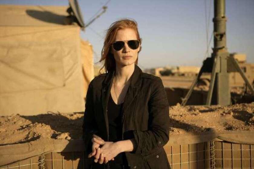 "Jessica Chastain plays a CIA operative in ""Zero Dark Thirty."""