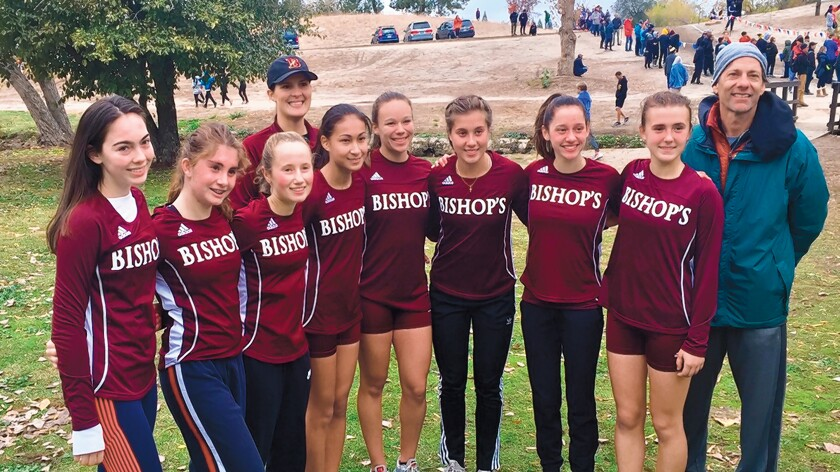 The Bishop's School girls cross-country team placed 9th out of 23 teams in their division at the 2019 CIF State Championships held in Fresno during Thanksgiving weekend. This improved two places from last year's team and tied the best finish by Bishop's in the State Championships.