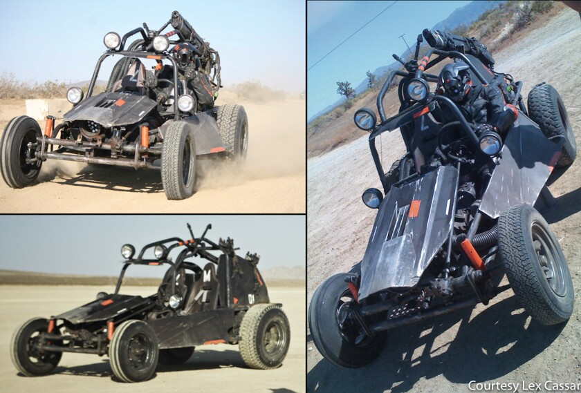 """Lex Cassar did design work on this dune buggy for """"PLUG"""""""