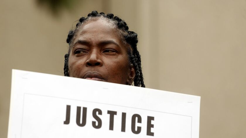 Lisa Hines, the mother of Wakiesha Wilson, who died in police custody at the Metro Detention Center.