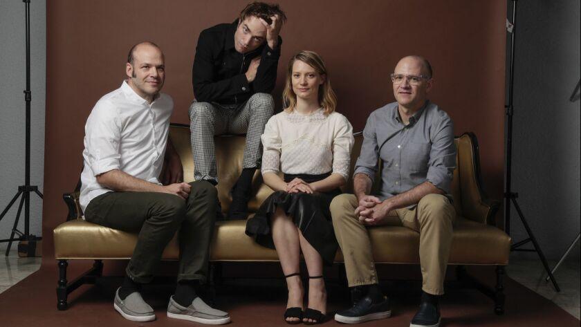WEST HOLLYWOOD, CA, WEDNESDAY, JUNE 13, 2018 - Filmmakers David Zellner, far right and Nathan Zellne