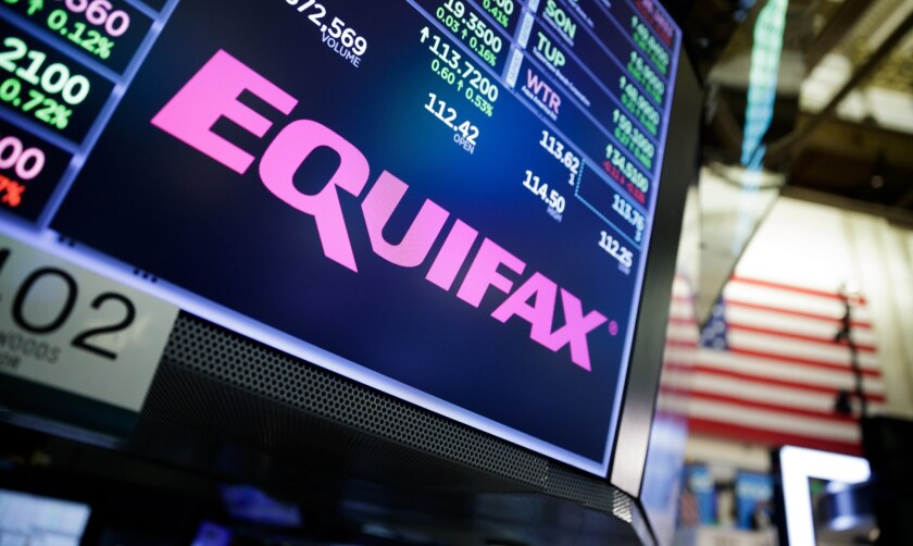 Equifax Sign at New York Stock Exchange