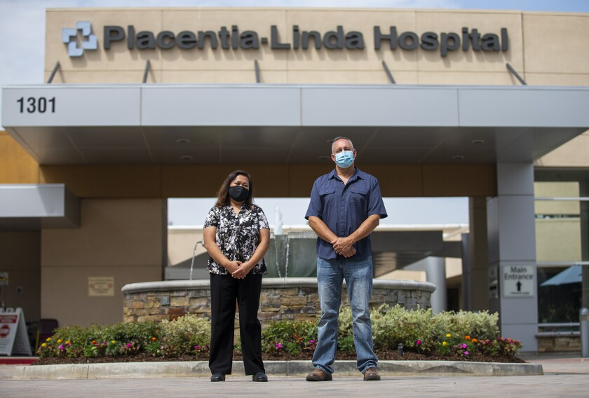 Erma Zins and Ron Goble work in the ER department at Placentia-Linda Hospital.
